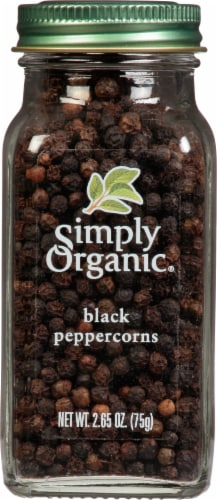 Simply Organic® Black Peppercorns Perspective: front
