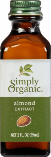 Simply Organic Almond Extract Bottle Perspective: front