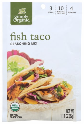 Simply Organic Fish Taco Seasoning Perspective: front