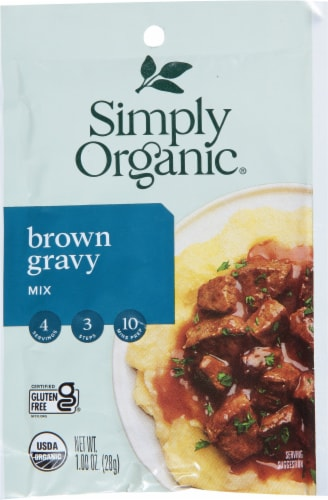 Simply Organic Brown Gravy Mix Perspective: front