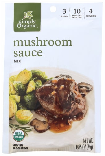 Simply Organic Mushroom Sauce Mix Perspective: front