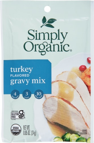 Simply Organic Roasted Turkey Flavored Gravy Mix Perspective: front