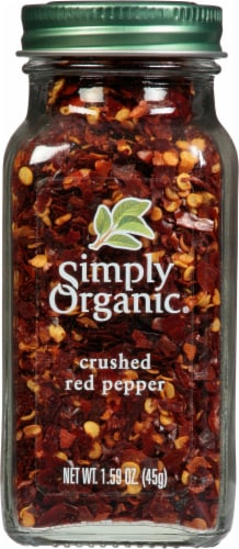 Simply Organic Crushed Red Pepper Perspective: front