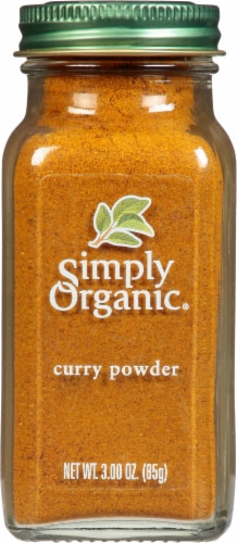 Simply Organic Curry Powder Bottle Perspective: front
