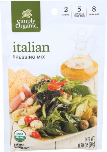 Simply Organic Italian Salad Dressing Mix Perspective: front