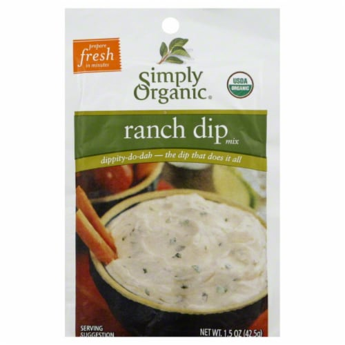 Simply Organic Ranch Dip Mix Perspective: front