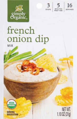 Simply Organic French Onion Dip Mix Perspective: front