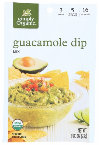 Simply Organic Guacamole Dip Mix Package Perspective: front