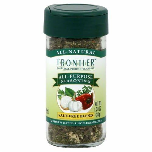 Frontier All-Purpose Seasoning Salt-Free Blend Perspective: front