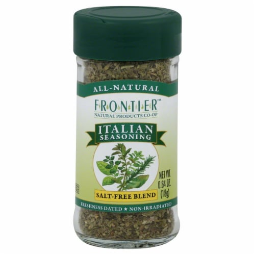 Frontier Italian Seasoning Salt-Free Blend Perspective: front