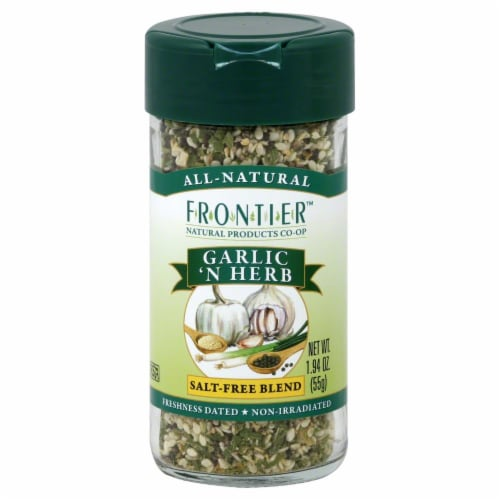 Frontier Garlic 'N Herb Salt-Free Blend Perspective: front