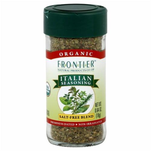 Frontier Organic Italian Seasoning Salt-Free Blend Perspective: front