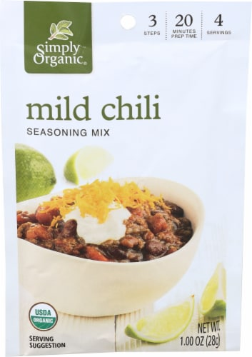 Simply Organic Mild Chili Seasoning Perspective: front