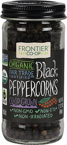 Frontier  Co-Op Organic Black Peppercorns Whole Perspective: front