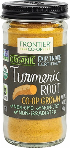 Frontier  Co-Op Organic Fair Trade Turmeric Root Ground Perspective: front