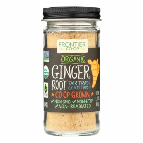 Frontier Herb Ginger Root Powder -Organic -Fair Trade Certified -Ground - 1.31 oz - Pack of 3 Perspective: front