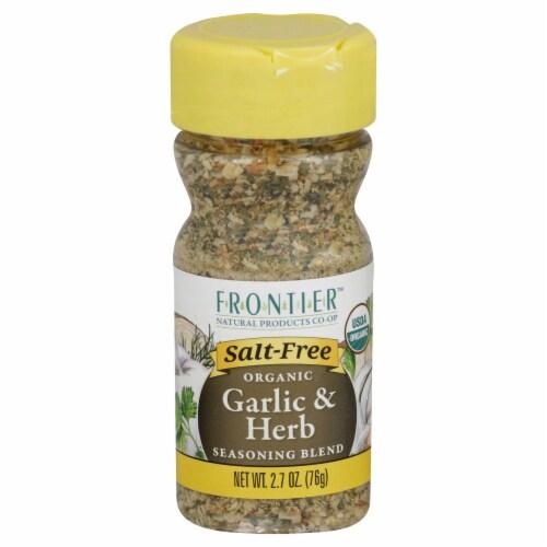 Frontier Organic Garlic & Herb Seasoning Blend Perspective: front