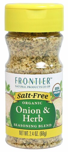 Frontier  Natural Products Organic Seasoning Blend   Onion & Herb Perspective: front