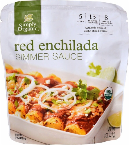 Simply Organic Enchilada Simmer Sauce Perspective: front