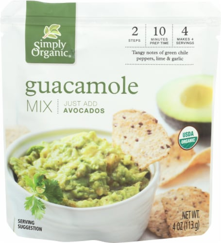 Simply Organic Guacamole Mix Perspective: front