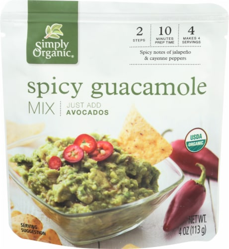 Simply Organic Spicy Guacamole Mix Perspective: front