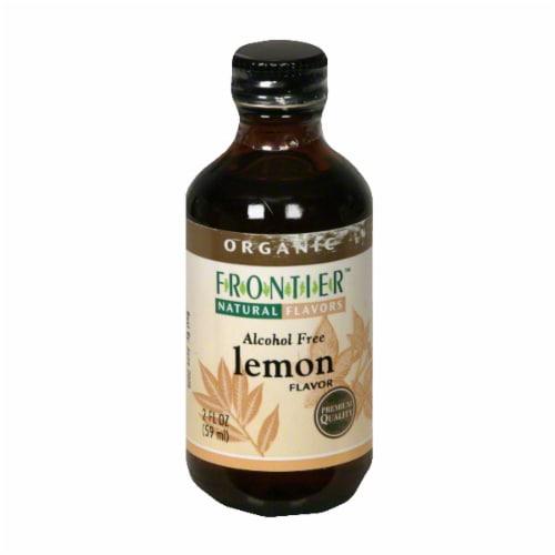Frontier Organic Lemon Flavor Perspective: front