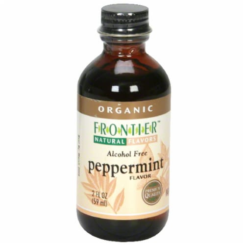 Frontier Organic Peppermint Flavor Perspective: front