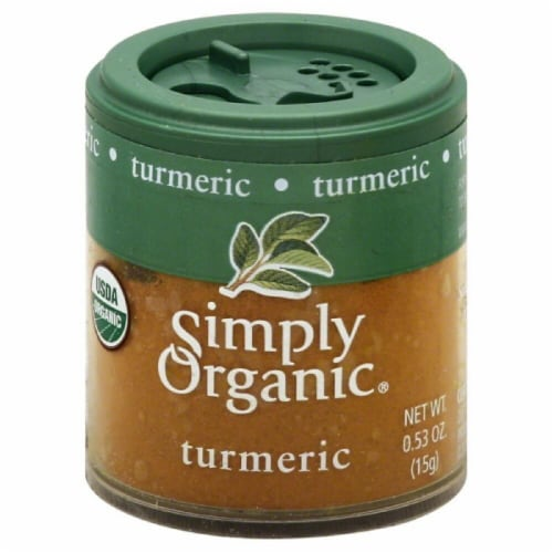 Simply Organic Ground Turmeric Perspective: front