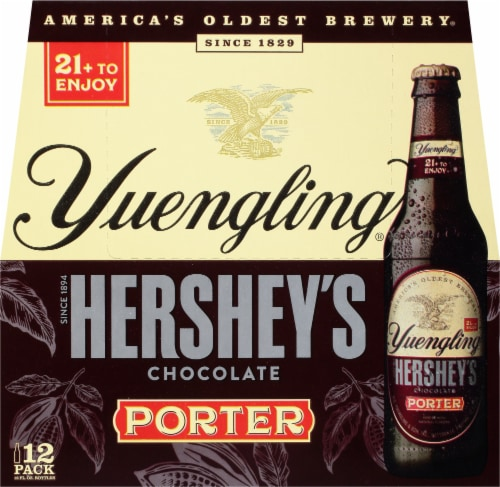 Yuengling Hershey's Chocolate Porter Beer 12 Count Perspective: front