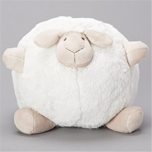 Roman 12391 10 in. White Sheep Plush with Brown Feet, Pack of 2 Perspective: front