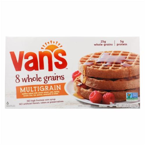 Van's 8 Whole Grains Multigrain Waffles 6 Count Perspective: front