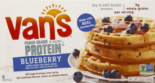 Vans Power Grains Blueberry Waffles - 6 ct Perspective: front