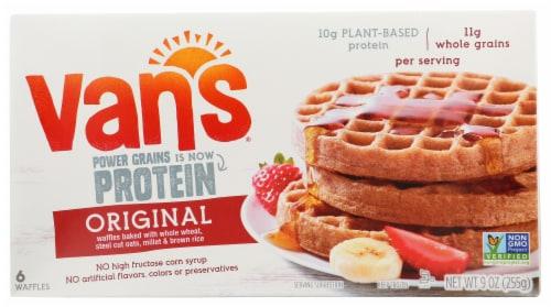 Van's Power Grains Original Waffles 6 Count Perspective: front