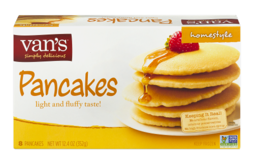 Van's Homestyle Pancakes - 8 ct Perspective: front