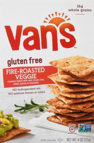 Van's Gluten Free Fire Roasted Veggie Crackers Perspective: front