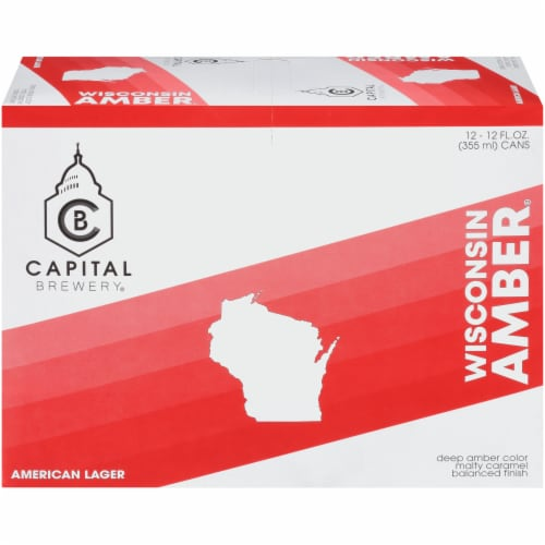 Capital Brewery Wisconsin Amber American Lager Perspective: front