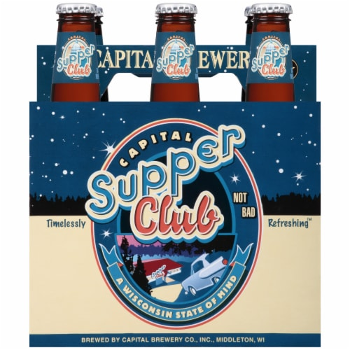 Capital Brewery Supper Club Lager Perspective: front
