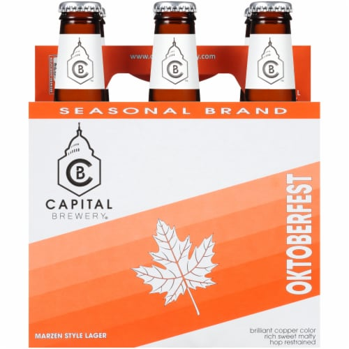 Capital Brewery Oktoberfest Marzen Style Lager Perspective: front