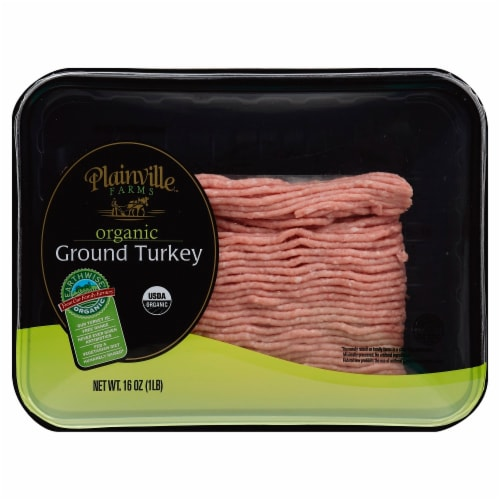 Plainville Farms Organic Ground Turkey Perspective: front