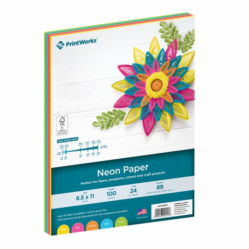 Printworks Multi-Colored Paper - 100 Pack - Neon Perspective: front