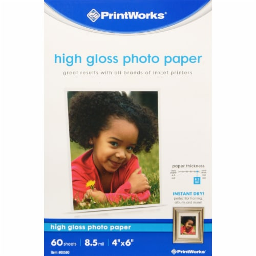 PrintWorks Hi-Gloss Photo Paper 60 Count Perspective: front