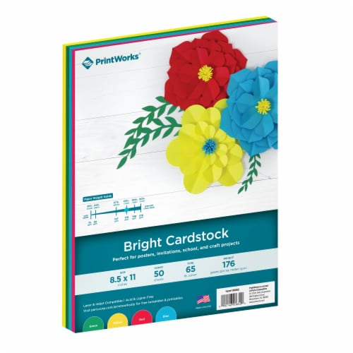 Printworks Multi-Colored Cardstock 50 Count - Bright Perspective: front