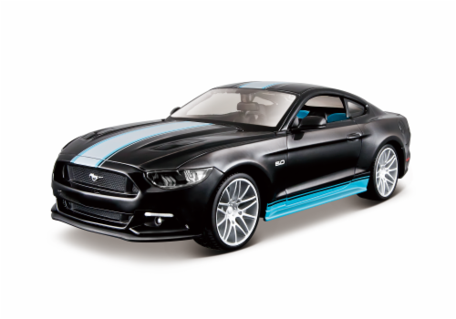 Maisto 1:24 Design Assembly Line 2015 Ford Mustang GT - Black/Teal Perspective: front