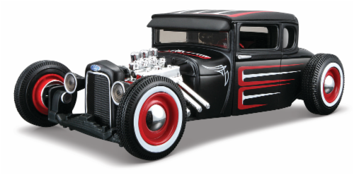 Maisto 1:24 Design Assembly Line 1929 Ford Model A - Black/Red Perspective: front