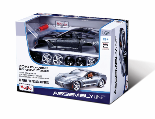 Maisto 1:24 Assembly Line 2014 Corvette Stingray® Coupe - Black Perspective: front