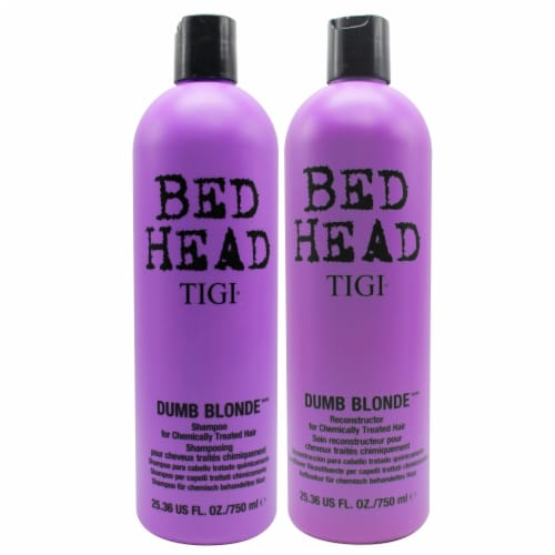 Bed Head Dumb Blonde Shampoo and Conditioner Set Perspective: front