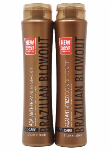 Brazil Blowout Anti-Frizz Shampoo and Conditioner Set Perspective: front