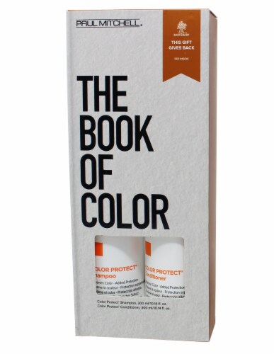 Paul Mitchell The Book of Colors Color Protect Shampoo and Conditioner Perspective: front