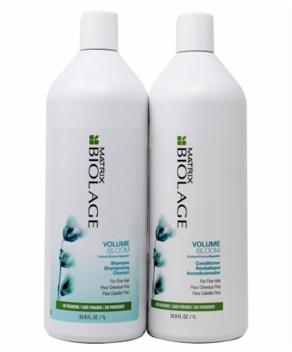 Biolage Volume Bloom Shampoo and Conditioner Set Perspective: front