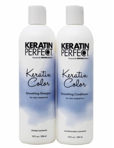 Keratin Perfect Color Smoothing Shampoo and Conditioner 2 Count Perspective: front